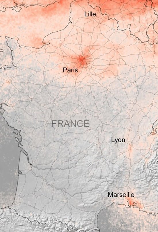 El coronavirus reduce la contaminación del aire en Europa